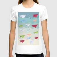 planes T-shirts featuring Paper Planes by irayflo