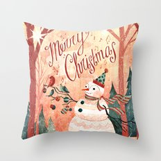 Christmas Card 2015 Throw Pillow