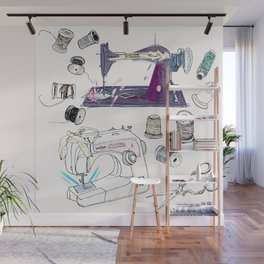 The Sewing Enthusiast Wall Mural