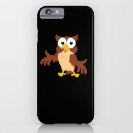 Cartoon Kids Owl Gift Motif iPhone Case