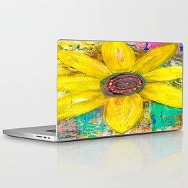 Abstract Yellow Flower Laptop & iPad Skin