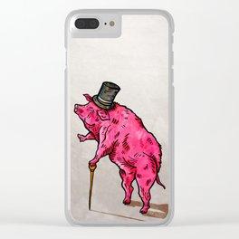 A classic pork Clear iPhone Case