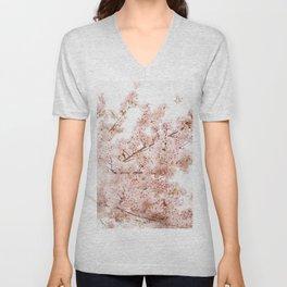 Chery blossom bush Unisex V-Neck