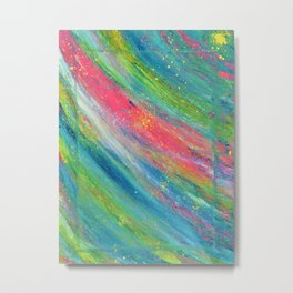 Rainbow Splat Metal Print