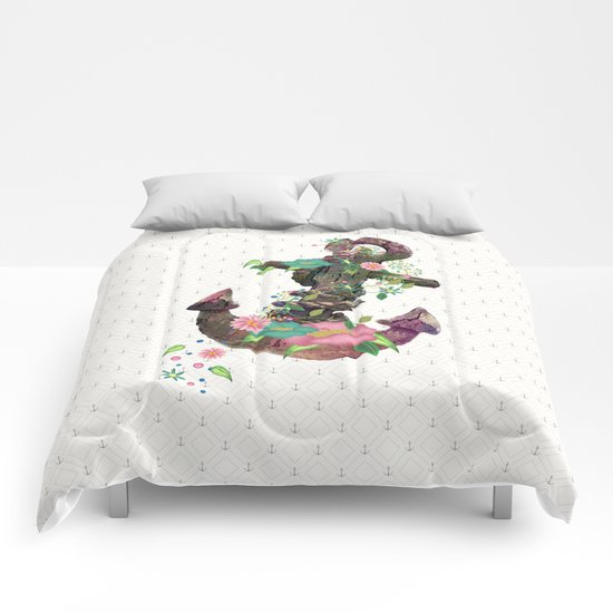 Floral Anchor Comforters