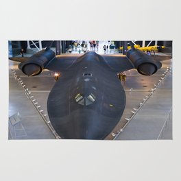 Sr71-Blackbird at the Dulles Air & Space Museum Rug