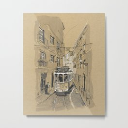 Lisbon Tram Metal Print