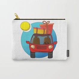 Travel car cartoon design Carry-All Pouch