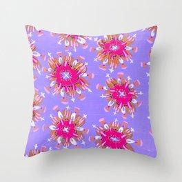 Pink Christie Rose Throw Pillow