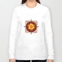 nordic Long Sleeve T-shirts featuring Nordic Valknut by Spiro Vasilevski