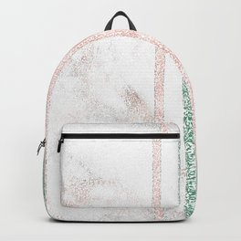 Snow White Peach Butterfly Abstract Pattern Backpack