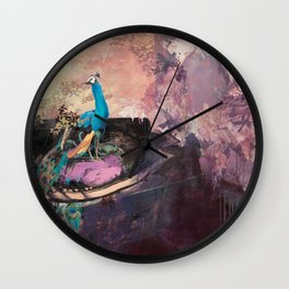 Peacock Suites Wall Clock