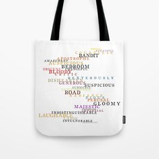 Word Inventions William Shakespeare Quote Art - Typography Tote Bag