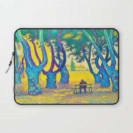 12,000pixel-500dpi - Paul Signac - Place des Lices, St. Tropez - Digital Remastered Edition Laptop Sleeve