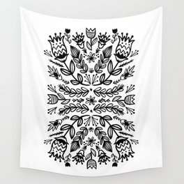 floral repeat 001 Wall Tapestry