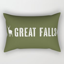 Deer: Great Falls, Montana Rectangular Pillow