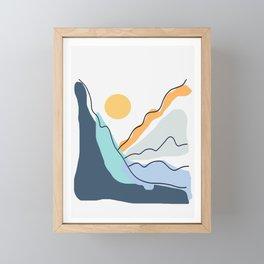 Minimalistic Landscape II Framed Mini Art Print