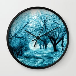 Winter path Wall Clock