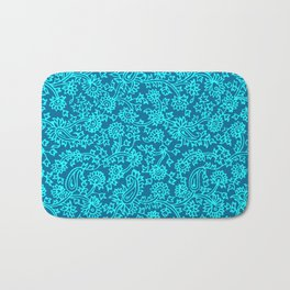 Indian Wood Block Pattern 4 Bath Mat