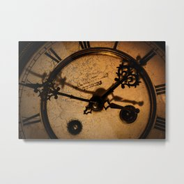 The Clock The Time  Metal Print
