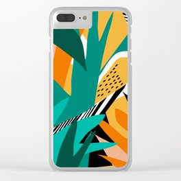 Jungle Abstract Clear iPhone Case