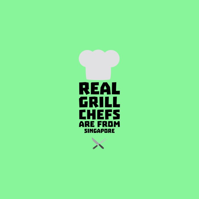Real Grill Chefs are from Singapore T-Shirt Dme6v Duvet Cover