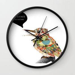 Provocative Bird Wall Clock