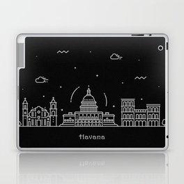 Havana Minimal Nightscape / Skyline Drawing Laptop & iPad Skin