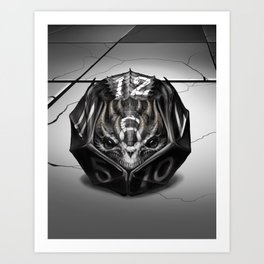 D12 Dragon Dice gaming Art Print