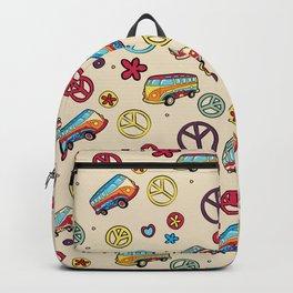 Retro  Hippie  Pattern 2 Backpack