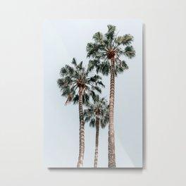 Palm Trees, Miami Summer Vibes, Minimalist Art Print, Minimal Pastel Colored Coconut Trees, Summer Time Poster, Palm Tree Print, Beach Vibes, Home Decor, Wall Art Print Metal Print