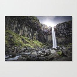 Svartifoss Waterfall Canvas Print
