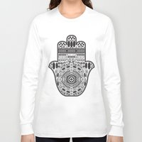 hamsa Long Sleeve T-shirts featuring Hamsa by Paint it graphics