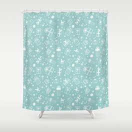 Christmas Pattern | Xmas Gift Idea Santa Claus Shower Curtain