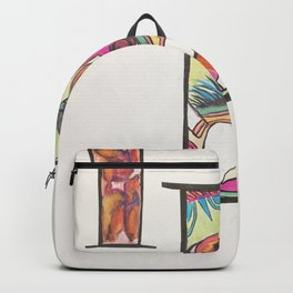 Dragon gouche and acrylic ink Backpack
