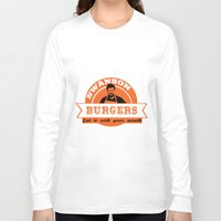 swanson Long Sleeve T-shirts featuring Swanson Burgers by ThePencilClub
