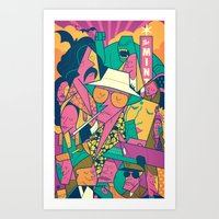 fear and loathing Art Prints featuring Fear and Loathing by Ale Giorgini