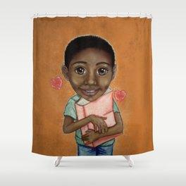 Kiddo Orange Shower Curtain