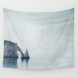 View of Chalk Cliffs Etretat - Normandy - France Wall Tapestry
