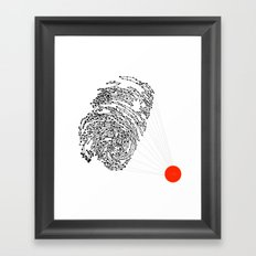 the Fingerprint Framed Art Print