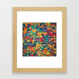 Abstract Geometric Multi-Color Blending Weird Texture Background #05 Framed Art Print