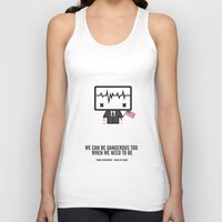 frank underwood Tank Tops featuring Frank Underwood by the curious brain