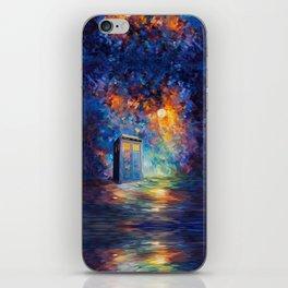 Tardis Doctor Who Rainbow Abstract iPhone Skin