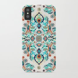 Modern Folk in Jewel Colors iPhone Case