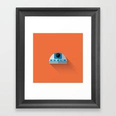R2D2 2015 Flat Design Episode VII Framed Art Print