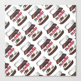 Nuts for Nutella Canvas Print