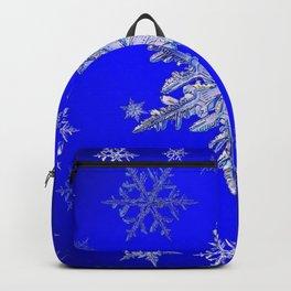 """MORE BLUE SNOW"" BLUE WINTER ART DESIGN Backpack"