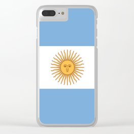 Flag of Argentina Clear iPhone Case