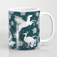 constellation Mugs featuring  Constellation  by Liluna