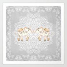 ALHAMBRA ELEPHANT GREY by Monika Strigel Art Print